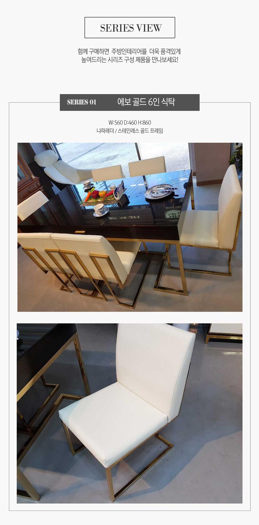 식탁의자 골드칼튼화이트 - 알토퍼니처, 260,000원, 디자인 의자, 인테리어의자